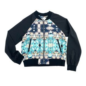 ORCHIDS OF TETRUS Silky Bomber Jacket